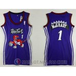 Maillot NBA Femme NBA Attrayant Mcgrady Raptors 1# Purpura