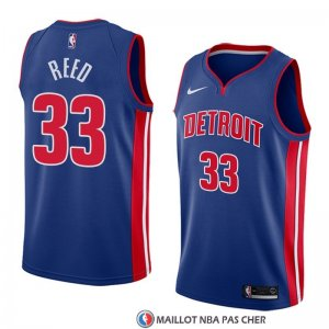 Maillot Detroit Pistons Willie Reed Icon 2018 Bleu