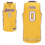 Maillot Orangee Young Los Angeles Lakers Revolution 30