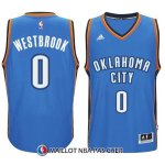 Maillot Authentique Oklahoma City Thunder Westbrook 0 2014-15 Bleu