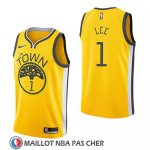 Maillot Golden State Warriors Damion Lee Earned 2018-19 Jaune