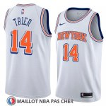 Maillot New York Knicks Allonzo Trier No 14 Statement 2018 Blanc
