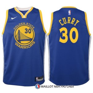 Maillot Authentique Enfant Golden State Warriors Curry 2017-18 30 Bleu
