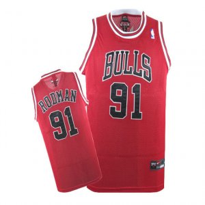 Maillot Chicago Bulls Rodman #91 Rouge