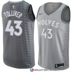 Maillot Minnesota Timberwolves Anthony Tolliver 43 Ciudad 2017-18 Gris