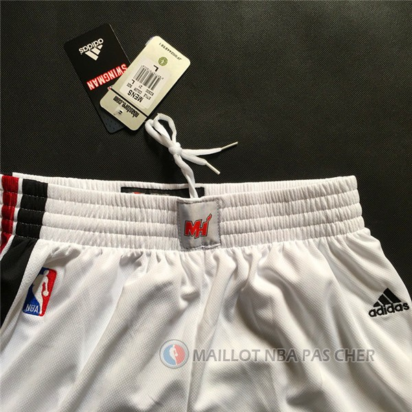 Short Heat Nueva Version Blanc NBA