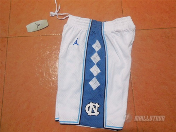 Short Blanc North Carolina NBA