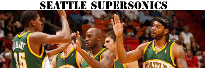 Maillot NBA Seattle Supersonics Pas Cher
