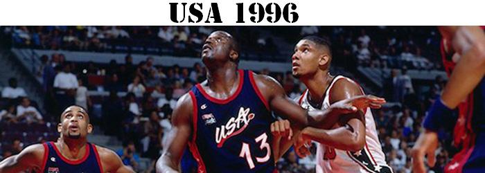 Maillot NBA USA 1996 Pas Cher
