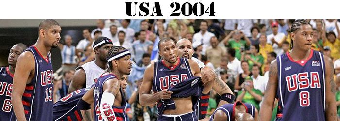 Maillot NBA USA 2004 Pas Cher