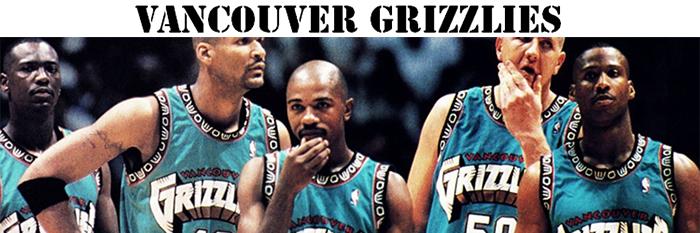 Maillot NBA Vancouver Grizzlies Pas Cher