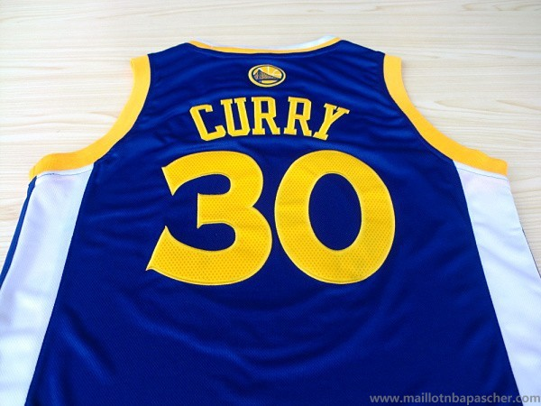 Maillot Bleu Curry Golden State Warriors Revolution 30